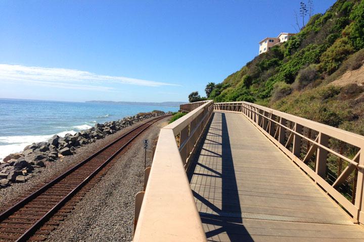 San Clemente Walking Trails Over Bridges Near San Clemente Pier