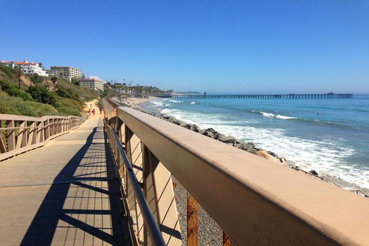 San Clemente Walking Trails Heading Towards San Clemente Pier