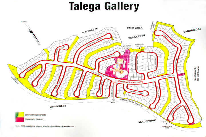 Talega Gallery Map | San Clemente 55+ Senior Community