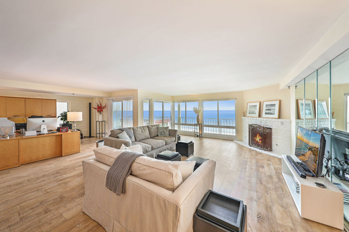 Sunset Shores Ocean View Living Room